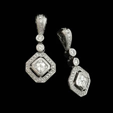 Michael Beaudry high end platinum diamond earrings