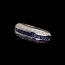 Ladies exquisite platinum, sapphire and diamond Captiva wedding ring.  This Gumuchian piece contains 1.86ct of gem sapphires and diamonds and measures 7.5mm.