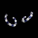 Gumuchian 18kt white gold diamond and blue sapphire New Moon earrings. The set contains 1.40ct of beautiful gems sapphires and .90ct. total weight in diamonds.  Also available in a smaller size.