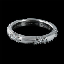 Michael B. ladies platinum rounded lace wedding band