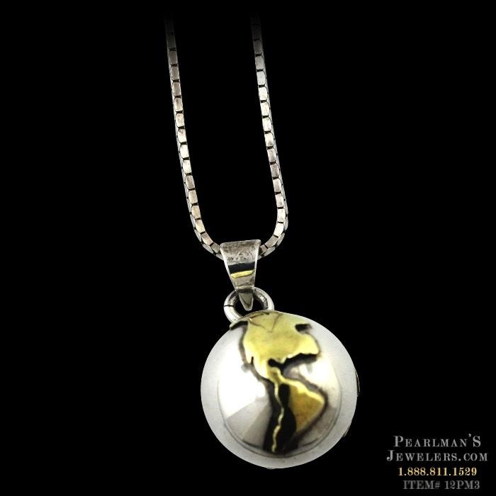 Estate jewelry jewelry 14k gold earth globe pendant estate jewelry necklaces aloadofball Choice Image