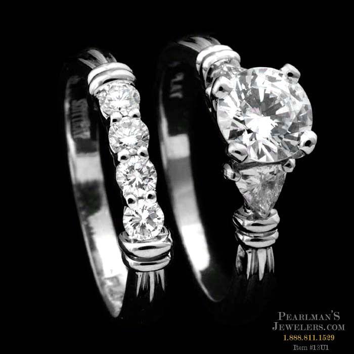 98ae4d9902380 Scott Kay Trillion-cut Diamond Wedding Set