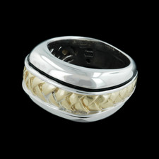 Closeout Jewelry Scott Kay gold and sterling basket weave ring