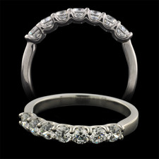 Pearlman's Bridal Platinum seven stone diamond wedding band