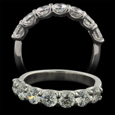 Pearlman's Bridal Platinum seven diamond engagement ring