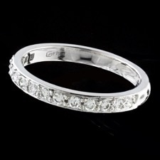 Gumuchian Half round diamond wedding band