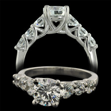 Pearlman's Bridal Platinum seven stone diamond engagement ring