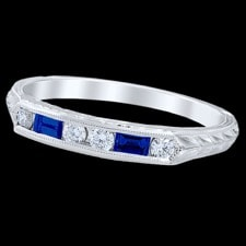 Pearlman's 1930 Vintage Edwardian gold sapphire wedding band