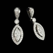 A set of wonderful platinum, round and marquise set earrings by Beaudry.  All handmade the pair contains .68ct of marquise and .41ct of round diamonds. Call for price and availability.