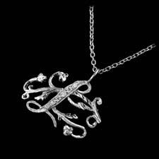 Cathy Carmendy Cathy Carmendy Platinum L pendant with diamonds