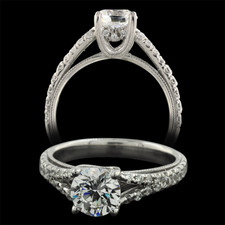 Pearlman's Bridal Platinum pave' diamond engagement ring