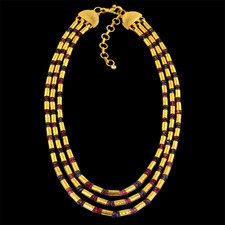 Gurhan 24k mixed stone yellow gold necklace