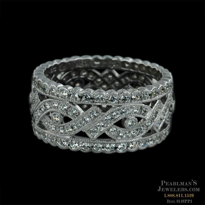 Beverley K 18kt White Gold Diamond Wedding Ring By Beverly K