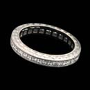 A lovely companion to an engagement ring: Michael Beaudry platinum princess-cut, channel-set diamond eternity wedding band. 1.0ctw in white diamonds. This was a custom created piece, please call for comparison pricing information.