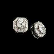 A classic set of handmade diamond earrings by Beaudry.  The earrings are set with .65ct of asscher and .29ct of round diamonds. Call for price and availability.