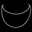 Exclusive from the Pearlman's Collection, this double strand 18kt white gold necklace blazes with 19.50cts. in diamonds.