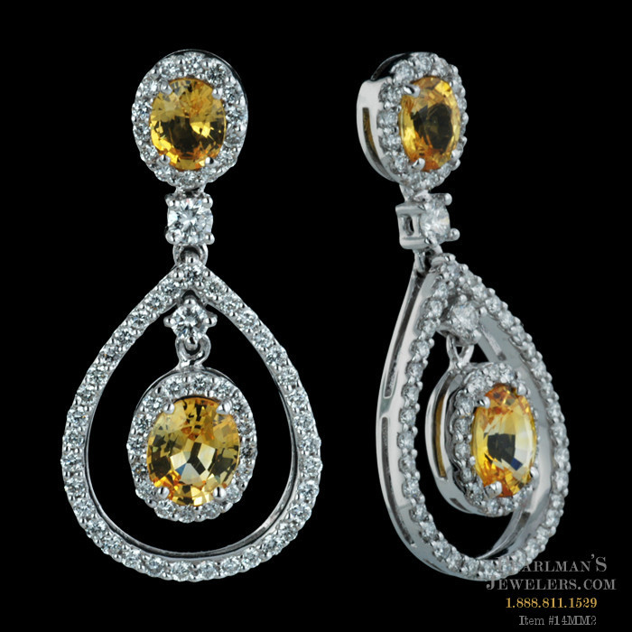 estate earrings yellow sapphire jewelers of kahn shop house