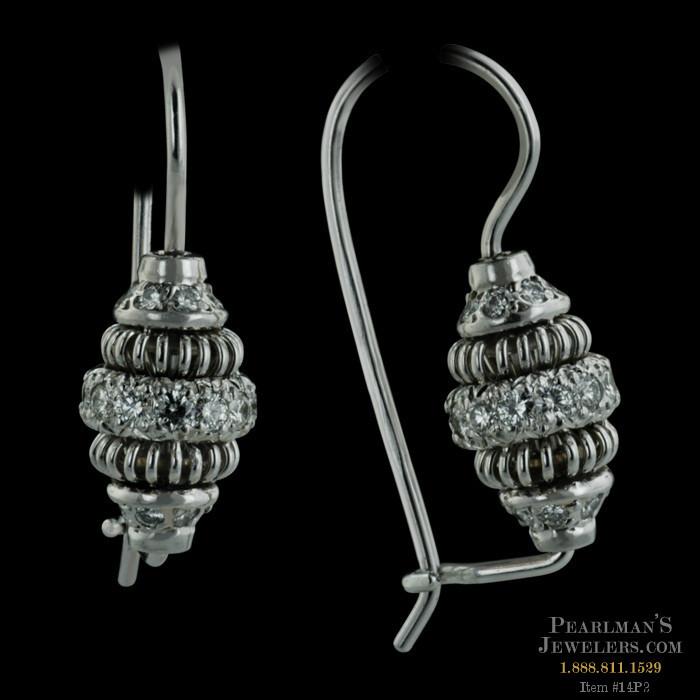 Michael b jewelry acorn wire diamond earrings for Michael b s jewelry