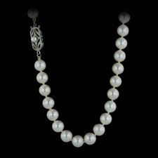 This particular style is offered in many sizes, lengths, and qualities. For the price featured, you'll receive (A) quality 6mm pearls, in an 18