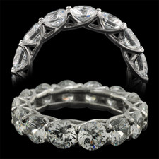 Pearlman's Bridal Platinum diamond shared prong eternity ring