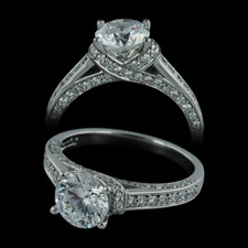 Closeout Jewelry Hugs & Kisses palladium engagement ring