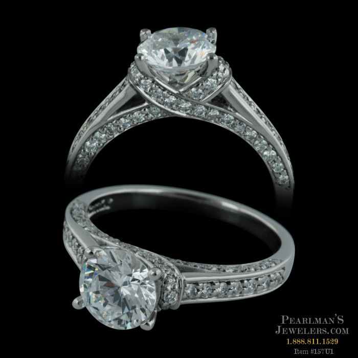Scott Kay Palladium Engraved Three Sided Diamond Wedding: Closeout Jewelry Jewelry Hugs & Kisses Palladium