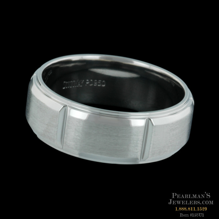 Scott Kay For Men Mens V Cut Platinum Wedding Ring