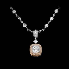 Michael Beaudry tab drop pink diamond necklace