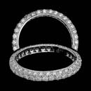 A great platinum diamond pave eternity ring.  The ring contains 102 diamonds weighing 1.08ct.  The ring has a 3.0mm width.