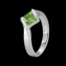 Metalsmiths Sterling Simple Sterling silver Peridot ring