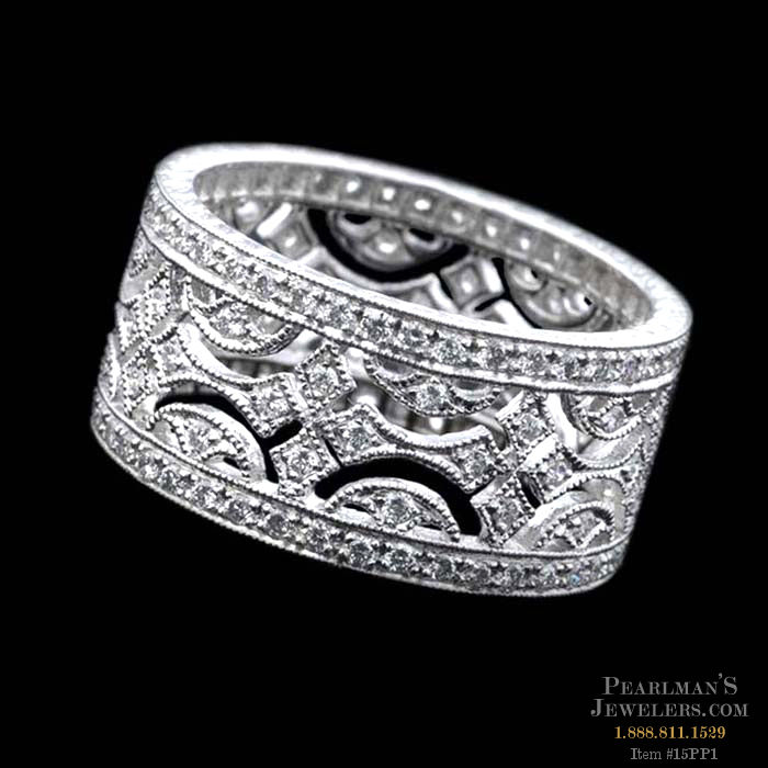 Beverley K Rings Platinum Wide Diamond Wedding