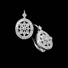 Beverley K 18kt white gold filigree diamond lever back earrings