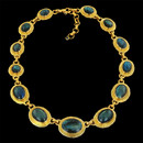 Labradorite framed in warm 24kt gold.   Lobster clasp and extension chain, 15-17in. From Gurhan's Muse Collection.