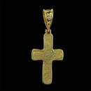 An eye-catching hand hammered 24kt gold cross pendant from Gurhan. The cross measures 29X18mm and there is a sparkling .04ct diamond inset in the bail.