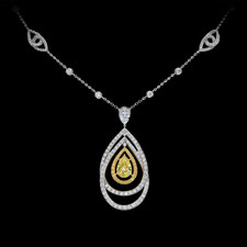 Gumuchian Gumuchian Yellow diamond necklace