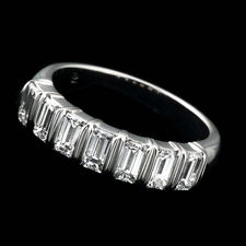 This sparkling and brilliant Alexander Primak platinum and diamond wedding band is set with 1.20ctw in full-cut baguette diamonds.