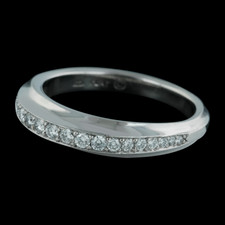The Gramercy wedding band from Michael Bondanza is set with .23ct of diamonds. This matches ring 14DD1 on page 6 of this section.
