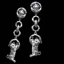 Item 16E2 - Kieselstein-Cord's wonderful playful Tiger cub earclip.  These are 2 1/2 inches in length.  Available pierced.