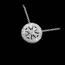 This simply stunning 18kt white gold Beverley K. pendant shines and shimmers with .18ctw in diamonds.The pendant measures 10mm in diameter.