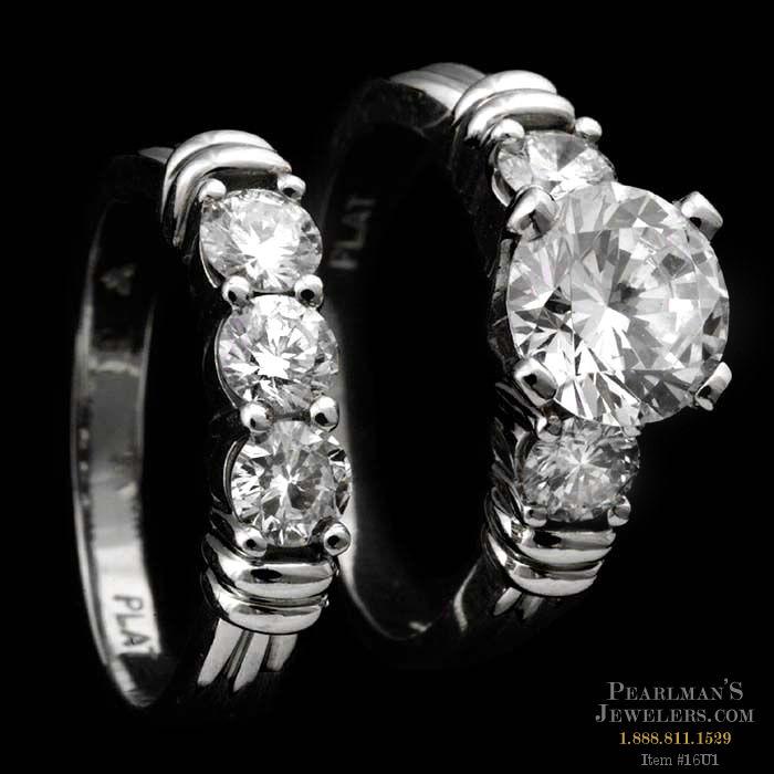 Scott Kay Palladium Engraved Three Sided Diamond Wedding: Whimsical Elegance: Ladies Platinum Engagement Ring By Sco