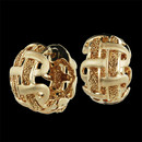 Yuri Ichihasi's 18kt yellow gold Weave Huggie hooped pierced earrings.