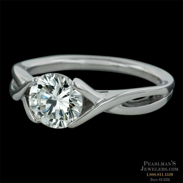Sholdt Sholdt Platinum Criss Cross Engagement Ring