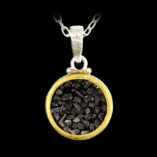 Gurhan Diamond Moonscape 24k gold pendant