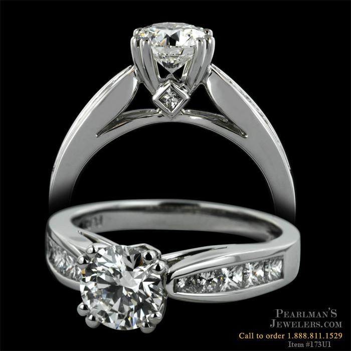 Scott Kay Platinum Five Diamond 0 75ct Wedding Band: Scott Kay Jewelry Channel Set Princess And Surprise