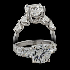 Pearlman's Bridal 18k white gold engagement ring