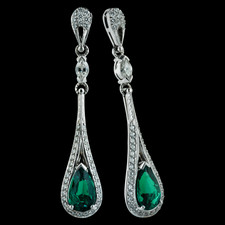Bridget Durnell Emerald Drop Earrings from Durnell