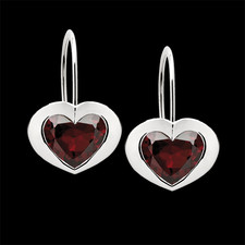 Bastian Inverun earrings sterling silver garnet