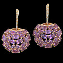 18K gold Amethyst earrings from Bellarri. These earrings measure 43mm x 27mm. These earrings could have been seen on actress Mayim Bialik at the 2013 Emmy Awards.