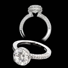 Alex Soldier Ladies platinum and diamond engagement ring.