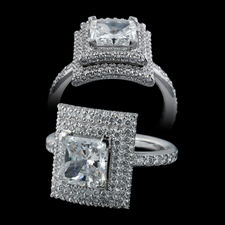 Michael B. michael b platinum engagement ring